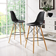 Pyramid Dining Side Bar Stool Set of 2 in Black