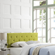 Terisa King Fabric Headboard in Wheatgrass