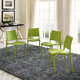 Hipster Dining Side Chair Set of 4 in Green