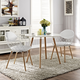 Basket Dining Set Set of 2 in White