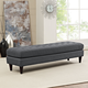 Empress Mid-Century Modern Large Bench in Gray