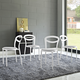 Assist Dining Side Chair Set of 4 in White Gray