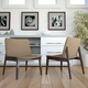 Evade Lounge Chair Set of 2 in Walnut Latte