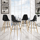 Pyramid Dining Side Bar Stool Set of 4 in Black