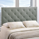 Theodore King Fabric Upholstered Headboard in Gray