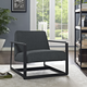 Seg Upholstered Fabric Accent Chair in Gray
