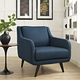 Verve Upholstered Armchair in Azure