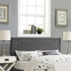 Josie King Fabric Upholstered Headboard in Gray