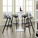 Launch Stacking Bar Stool Set of 4 in Black