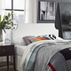 Laura Queen Vinyl Upholstered Headboard in White