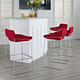 Garner Bar Stool Set of 4 in Red