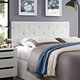 Terisa Queen Vinyl Upholstered Headboard in White