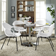 Swerve Dining Set Set of 4 in White