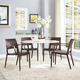 Astute Dining Set Set of 4 in Coffee