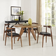 Stalwart Dining Side Chairs Set of 4 in Dark Walnut Black