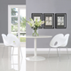 Envelope Dining Set Set of 2 in White