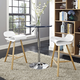 Clip Bar Stool Set of 2 in White