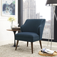Swell Upholstered Fabric Armchair in Azure