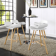 Clip Bar Stool Set of 4 in White
