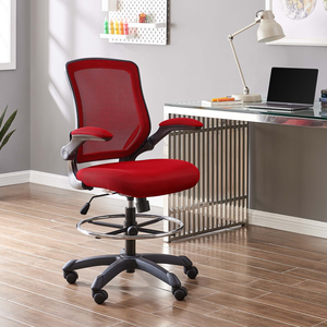About: Veer Drafting Chair In Red