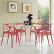 Entangled Dining Set Set of 4 in Red