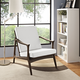 Pace Upholstered Armchair in Walnut White