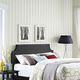 Laura King Upholstered Vinyl Headboard in Black