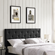 Terisa Full Upholstered Vinyl Headboard in Black