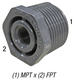 Bushing, 839-128 1in MPT x 1/4in FPT