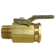 Ball Valve, 2Way Brass 1/4in F x 1/4in M