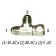 Tee Run 6602-8 M JIC 1/2in MPT x F JIC