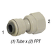 Connector PI451222S 3/8in T x 1/4in FPT