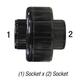 Union 457-005-Blk PVC40 1/2in Slp