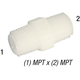 Nipple M12 Nylon 1/2in MPT