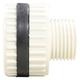 Bulkhead, PVC40 1/4in Thru Thread