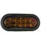 Oval 6-1/2in Light, 10 LED Amber w/Plug