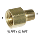 Adapter 28-193 Hex 3/8in FPT x 1/4in MPT