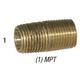 Nipple 28-131 Brass 1/8in MPT x Close