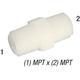 Nipple M38 Nylon 3/8in MPT