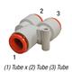 SMC KQ2U13-00A Union Y 1/2in Tube