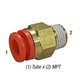 SMC KQ2H07-34AS Connector 1/4