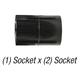 Coupler 429-005-Blk PVC40 1/2in Slp