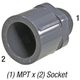 Adapter, 836-020 2in MPT x 2in Slp