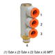 SMC KQ2VT13-36AS Elbow 1/2inT x 3/8inMPT