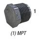 Plug, 850-030 PVC80 3in MPT