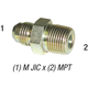 Connector 2404 M 1/2in JIC x 3/8in MPT