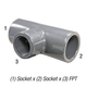 Tee 802-101 PVC80 3/4 Slp x 1/2 FPT