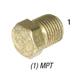 Plug 28-202 Hex Head Brass 1/4in MPT