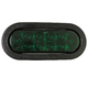 Oval 6-1/2in Light, 10 LED Green w/Plug