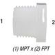 Bushing Nylon 1/2in MPT x 1/4in FPT